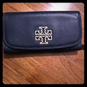 Tory Burch Leather Wallet-Blue